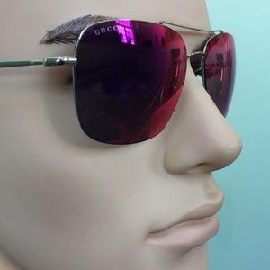 GUCCI – 58mm Rimless Sunglasses LIGHT GOLD GREY